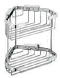 Vado Large Double Triangular Corner Basket - BAS-2013-C/P
